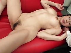 Fingered japanese babe sucks his dick tubes