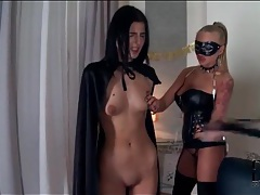Masked mistress and her skinny submissive tubes