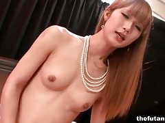 Skinny asian tgirl fucks guy in the ass tubes