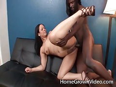 Big black cock fucks white girl doggystyle tubes
