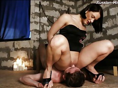 Sexy smothering session with russian mistress tubes