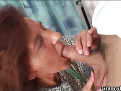 Mature seamstress sucks his young dick tubes