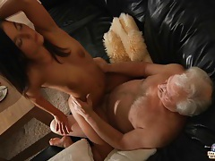 Sexy young nurse healing old dick tubes
