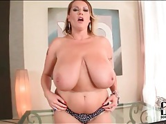 Chubby gal in panties has huge boobs tubes