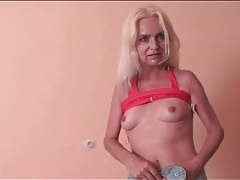 Skinny grandma wants you to see her pussy tubes