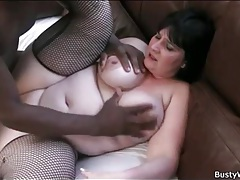 Fishnets look sexy on bbw taking dick tubes