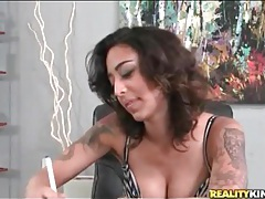 First timer signs contract and gets fingered tubes