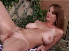 Taya gropes her natural tits outdoors tubes