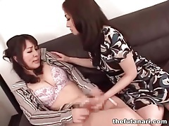 Busty asian dickgirl gets her dick sucked tubes