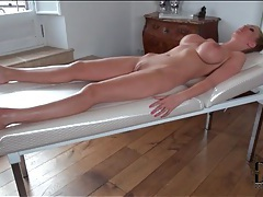 Plastic wrap bondage with leigh darby tubes