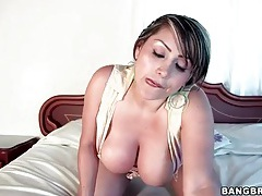 Latina shows off big ass and tits solo tubes