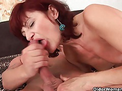 Granny gets a good fuck and creamy facial tubes