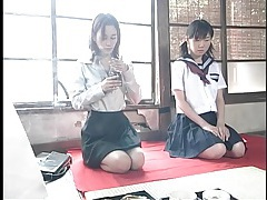 Japanese lesbian strapon sex and piss play tubes