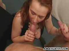 2 naughty amateur milf in a gangbang with facials tubes