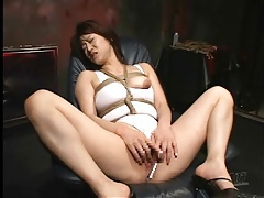 Big japanese tits in rope bondage tubes