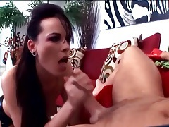 Brunette anal in fencenet nlyons and sexy boots tubes