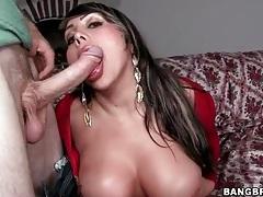 Big booty babe sandra sucks hard dick tubes
