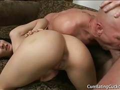 Small tits madison ivy fucked as cuckold watches tubes