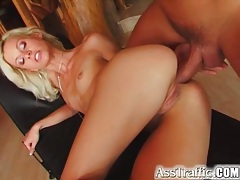 Skinny blonde ass fucked by big cock tubes