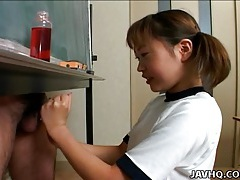 Japanese cutie itsuki wakana wanks a hard dick uncensored tubes