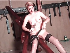 Kinky mature beauty flogged on her ass tubes
