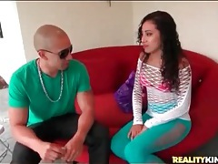 Latina nadia mills wears skintight pants tubes