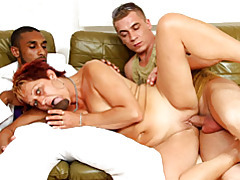 Mature interracial threesome tubes