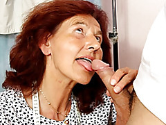 Housewife in a dress sucks dick tubes
