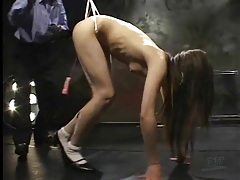 Major wedgie for japanese girl in bondage tubes