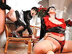 Satin laced foursome tubes