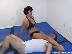 Man gets Beaten Down by Hot Chick tubes