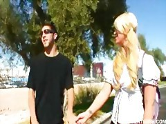 Blonde Asian teen Cayden Moore punished by her professor tubes