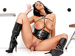Leather babe boned tubes