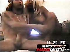 Pamela rides on Bretts boner tubes