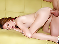 Slim chick doggy style fucked tubes