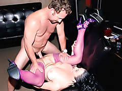 Milf in stockings pounded tubes