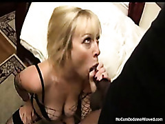 Cum swallowing busty babe tubes