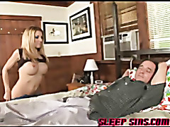 Blonde babe fucks sleeping guy tubes