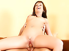 Slim older chick on cock tubes