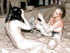 Hot girls mud wrestling tubes