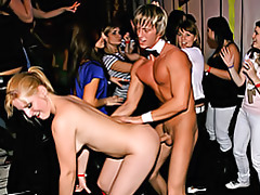 Party girls sucking and fucking tubes