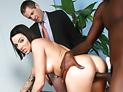 Cuck hubby watches her take black tubes
