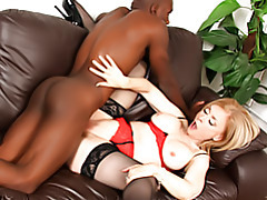 Cougar in black stockings fucked tubes