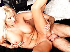Slippery blonde milf craves him tubes
