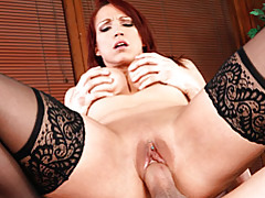 Milf redhead and the passionate sex tubes