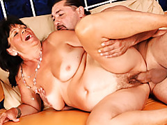 Licking and fucking hairy mature tubes