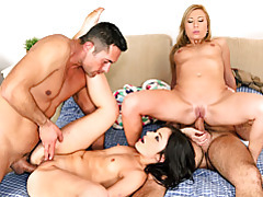 Hot anal use in foursome tubes