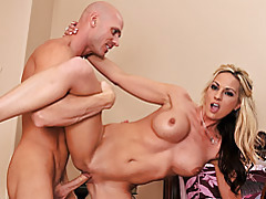 Blonde makes big cock cum tubes