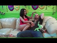 Hot babe aleksa nicole dances in his lap tubes