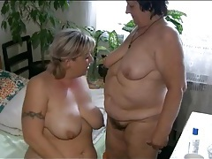 Bbw in pigtails has lesbian sex with mature tubes